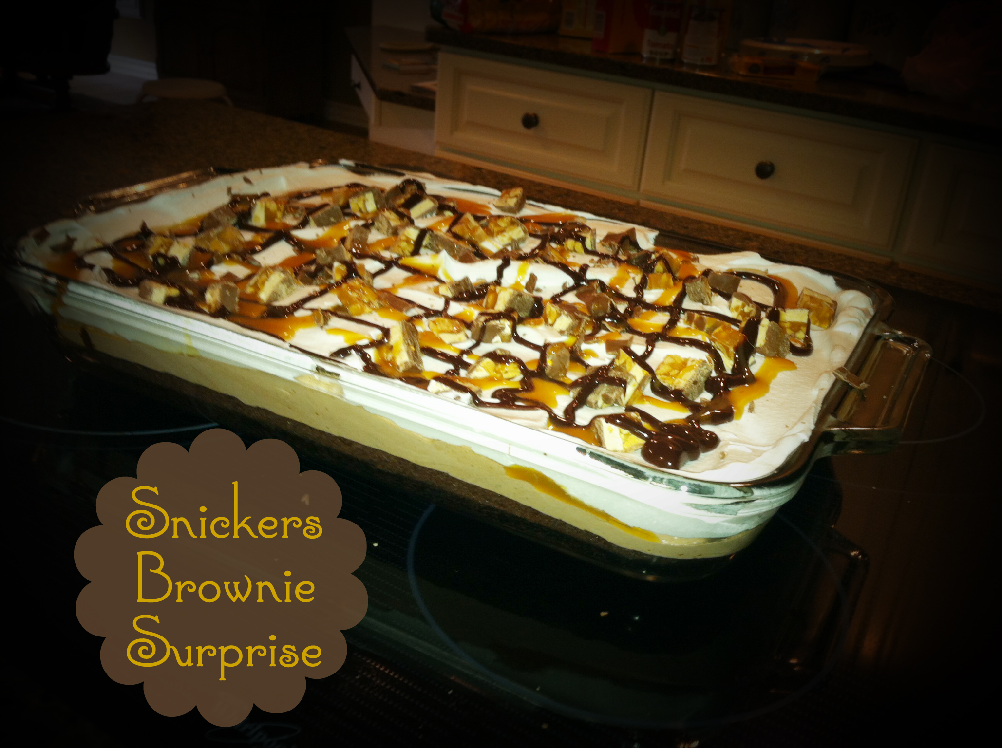 Snickers Brownie Surprise